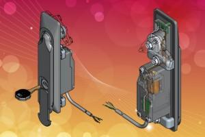 EMKA ELM lock module fitted to standard swinghandle
