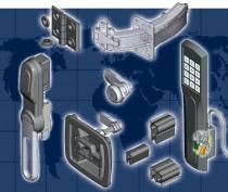 EMKA locks, handles, hinges, sealing strips, wireless locking