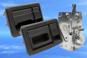 Luggage compartment handles and latches from EMKA