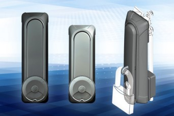 Protector vandal resistant swinghandles from EMKA UK with double cylinder lock and padlockable options
