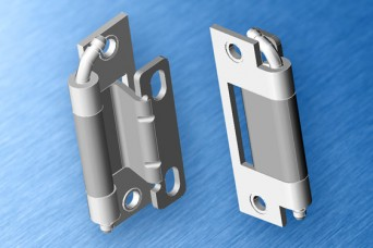 EMKA 120 degree hinge for larger door returns