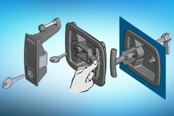 EMKA range of flush compression latches and handles increase safety by not having external projections