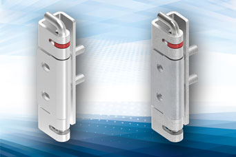 125 degree hinge from EMKA with stud fixing and retained pivot for cabinets and enclosures