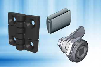 EMKA hardware package for small housings and boxes for electrical or electronic equipment