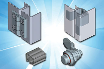 Locks, hinges and gasket from EMKA for stainless steel enclosures