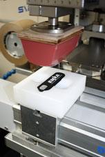 2 colour pad printing on enclosure hardware from EMKA UK