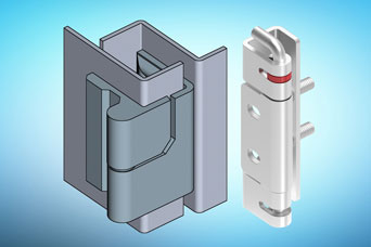 Stainless steel AISI 316 hinges from EMKA for specialist cabinets