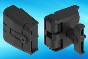 EMKA compression locking hinge for HVAC installations