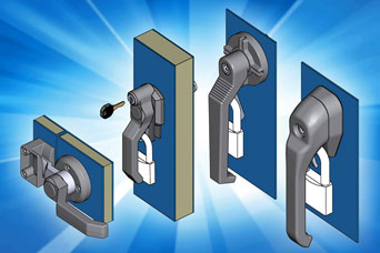 Specialist handles for HVAC panels from EMKA UK