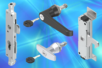 EMKA heavy duty latches for 3 point cabinet locking systems