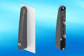 EMKA 1390 lifthandle fits exceptionally small spaces on specialist enclosures and cabinets