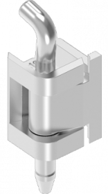 EMKA stainless steel hinge for prominent doors