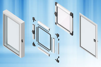 EMKA 1200 program Aluminium Windows for vision, for mounting, for protection