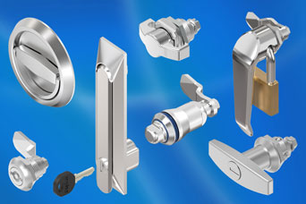 Specialist stainless steel cabinet and enclosure latch/locks from EMKA