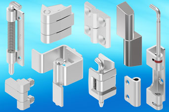 EMKA high performance stainless steel hinges for specialist enclosures