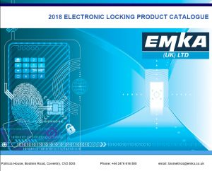 EMKA 2018 Electronic Locking Product Catalogue front cover
