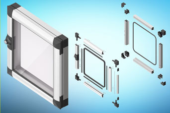 EMKA Aluminium PROflex window kits for quicker self-assembly