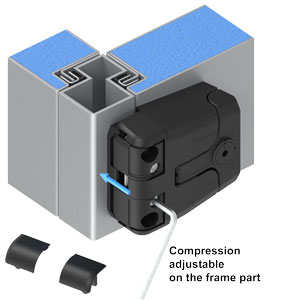 EMKA Compression Latch-Hinge Locked