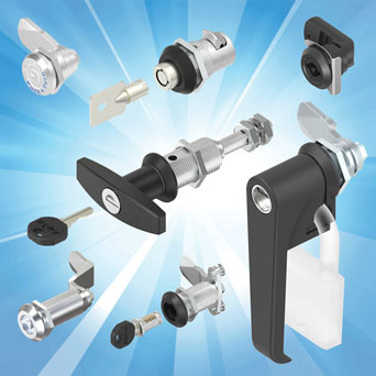 Large quarter-turn locks from EMKA for specialist cabinets and enclosures