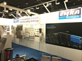 EMKA PPMA stand with UK gasket profiles