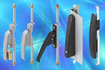 EMKA space-saving lever locking lift handles