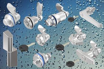 EMKA stainless steel series locks, handles, hinges, swinghandles