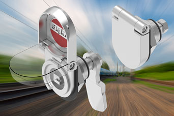 Visual indication IP69K stainless steel compression latch