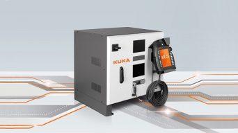 EMKA handle on robotics enclosure